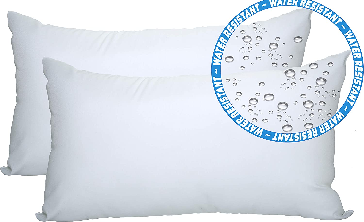 Amazon Com Foamily 2 Pack 12 X 20 Premium Outdoor Water And Mold Resistant Hypoallergenic Stuffer Pillow Throw Inserts Sham Square Form Standard White Garden Outdoor