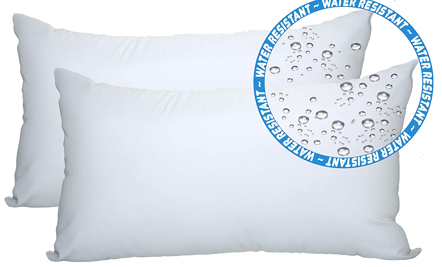 """Foamily 2 Pack - 12"""" x 20"""" Premium Outdoor Water and Mold Resistant Hypoallergenic Stuffer Pillow Throw Inserts Sham Square Form, Standard/White"""