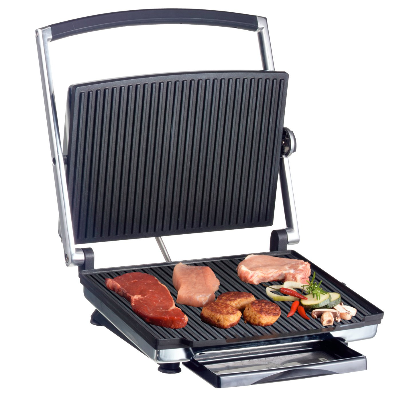 BEEM Germany B8.001 Cater Pro V2 - Parrilla de contacto y sandwichera,Cromo (Chrome Finish)