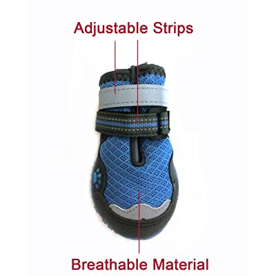 Xanday Breathable Dog Boots, Mesh Dog Shoes
