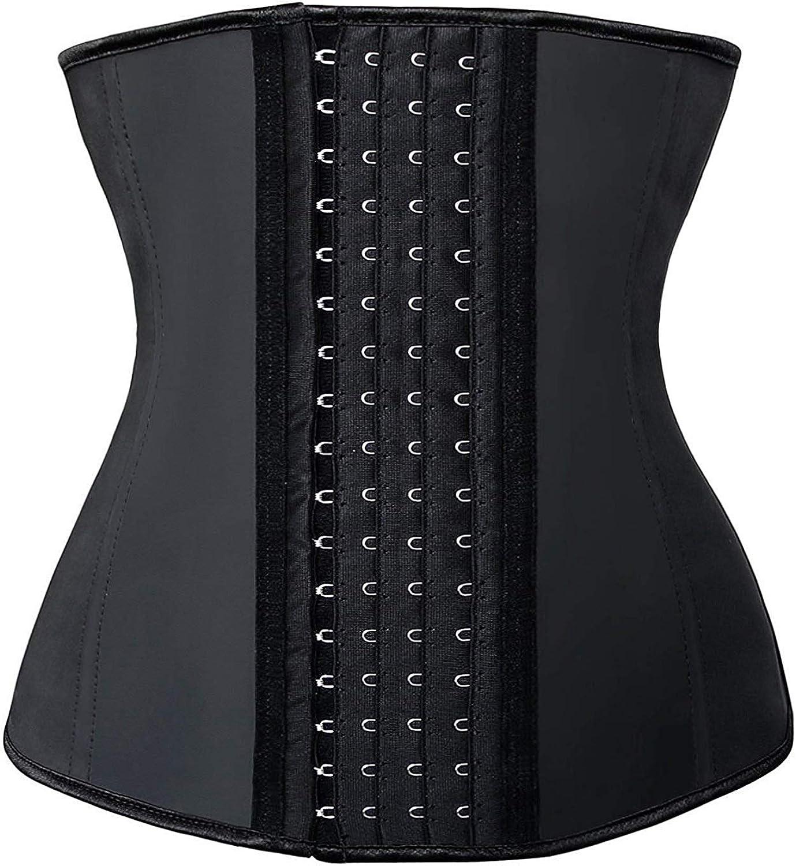 SHAPERX Mujer Waist Cincher Cors/és Latex Entrenador de Cintura Fajas Reductoras de Cintur/ón Underbust Bustier P/érdida de Peso