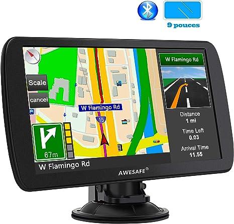 Cartes de 48 Pays europ/éens avec Bluetooth GPS 9 Pouces pour Voiture et Poids Lourds