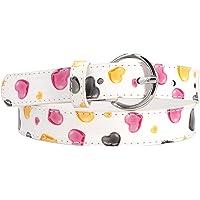 EANAGO Dulce cinturón infantil para niñas en la guardería y la escuela primaria (5-10 años, cintura 57-72 cm), beige…