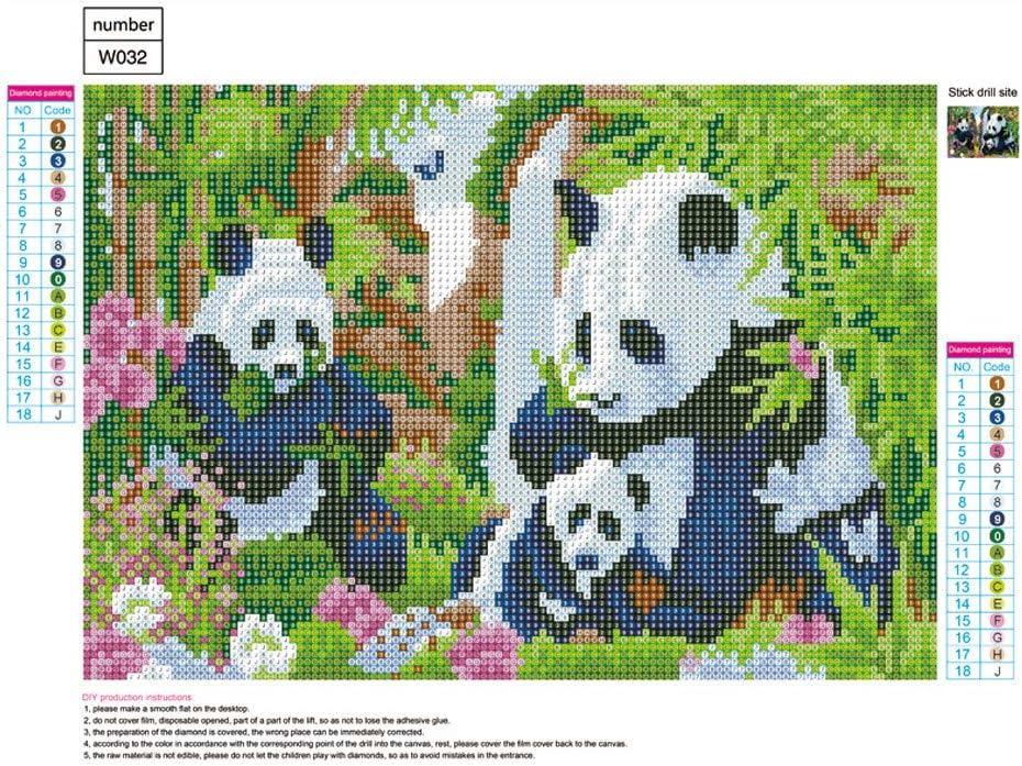 Embroidery Arts,Cross Stitch Arts,Craft Home Decor Panda 30x40cm feilin DIY Full Round Drill Diamond Rhinestone Painting Kits for Adults and Children 5D Diamond Painting