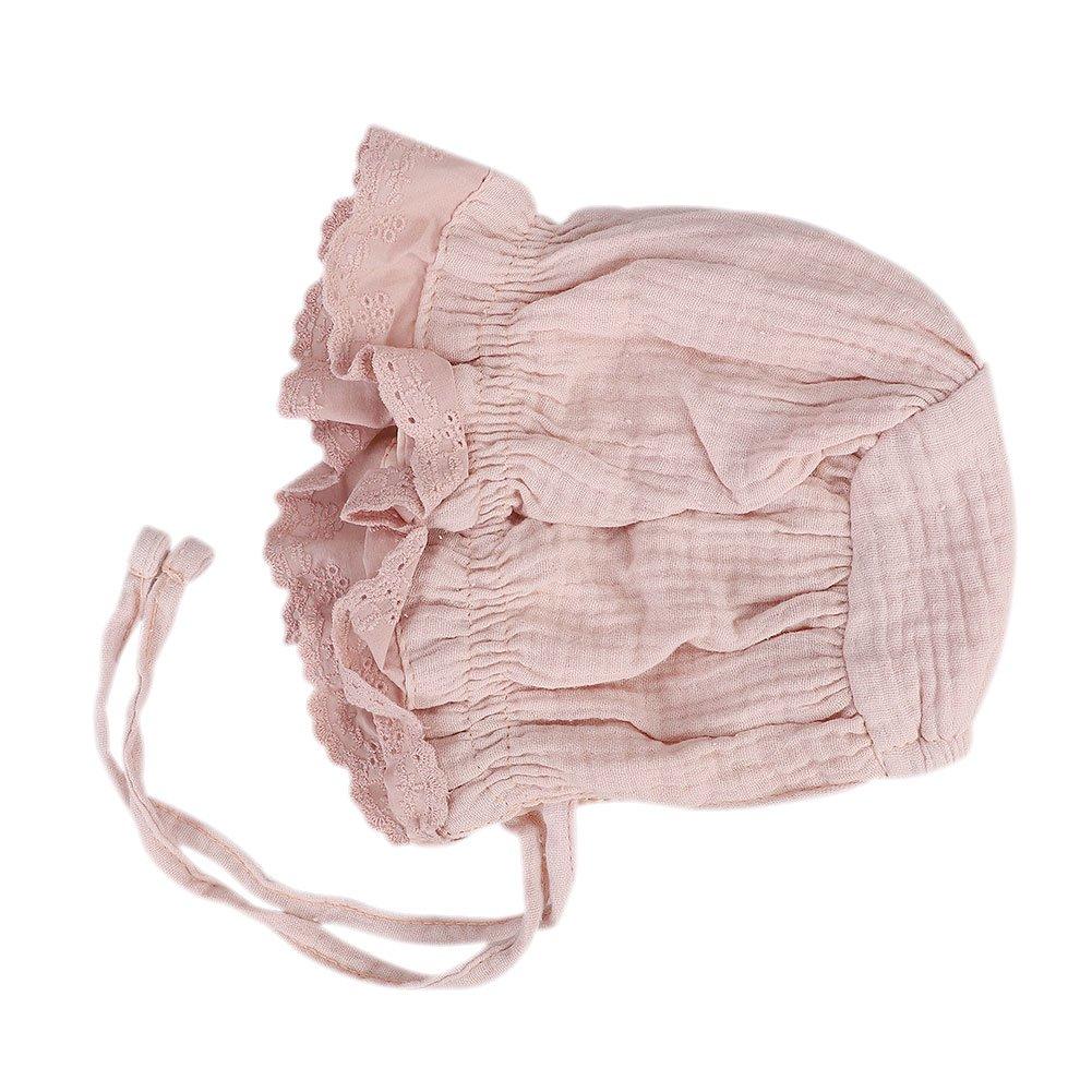 0-3ans Chapeau de Soleil B/éb/é Visi/ère Plage Bonnet d/ét/é B/éb/é Nouveau-n/é Unisexe Sun Hat Anti-uv R/églable Respirant Princier Casquette en Coton pour Enfants Petits Filles Gar/çons
