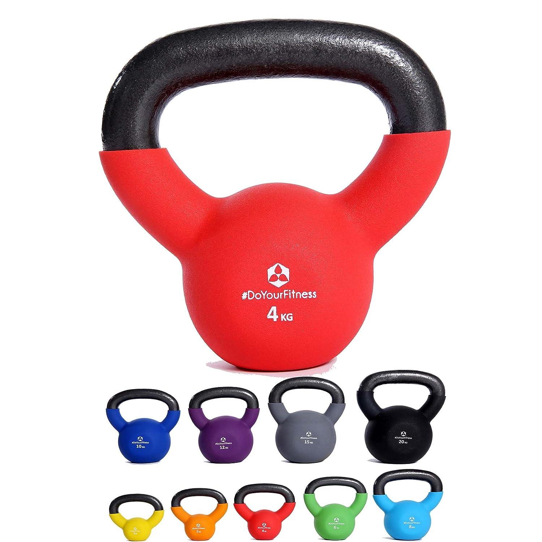#DoYourFitness Kettlebell »Kylon« revêtu de néoprène/idéals pour l'entraînement d'endurance et la physiothérapie/poids à main de 2 à 20 kg, 100% fonte/plusieurs couleurs et poids disponible #DoYourSports