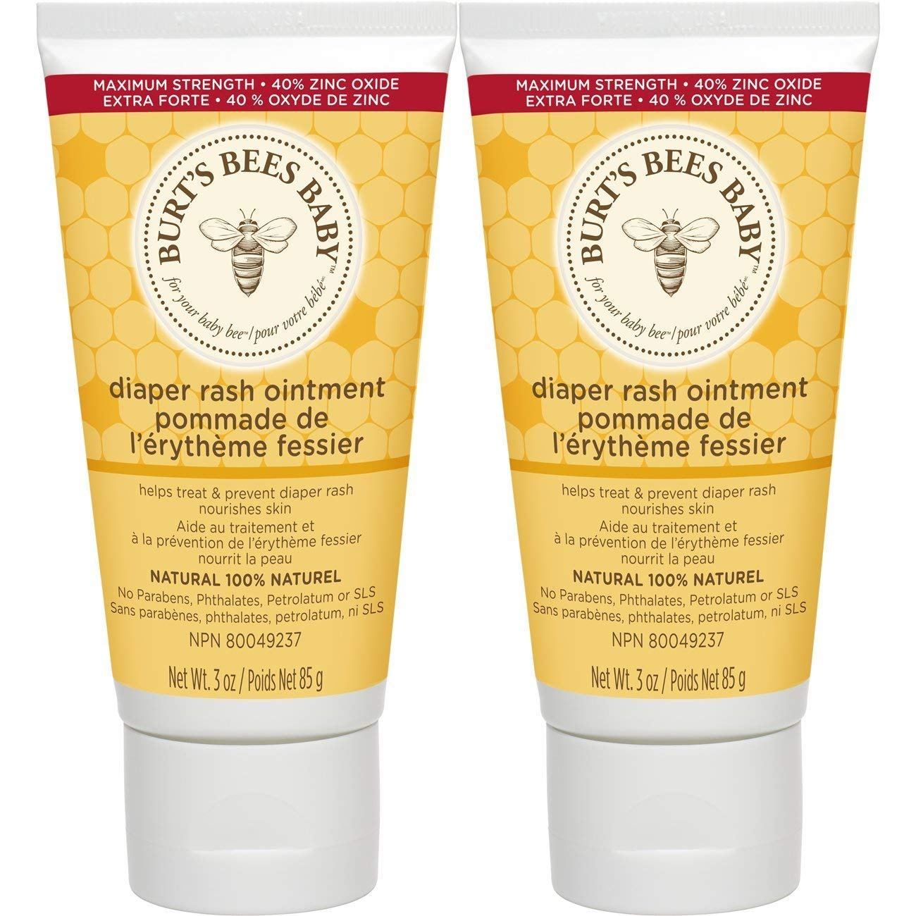 Burt's Bees baby bee 100% natural diaper rash ointment, 3 ounces (pack of 3), 9 Ounce by Burt's Bees Baby