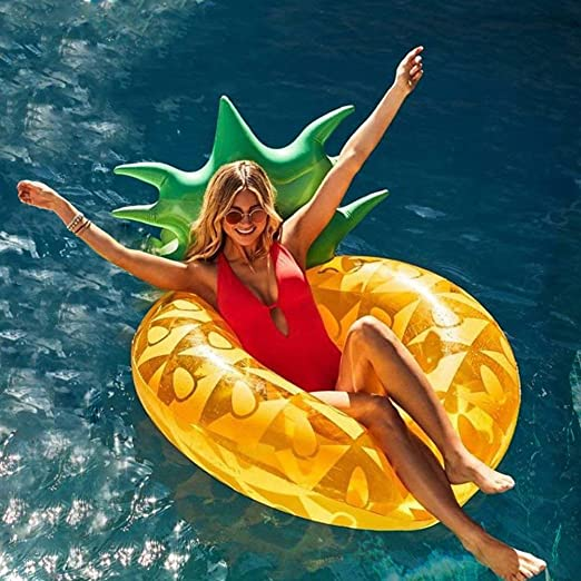 Piña Hinchable colchonetas Piscina Flotador Gigante de Piña Tumbona Flotadora/ Tumbona de Piscina Juguete para Adultos y Niños