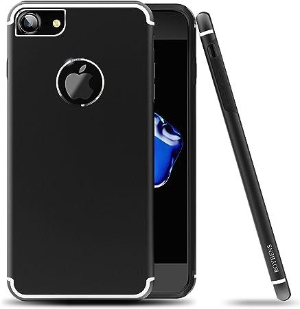 Roybens Cover iPhone 6s, Metallo Silicone 2 in 1 Ultra Sottile Antiurto Custodie Cover per Apple iPhone 6/6s, Nera [Black], Rendere il vostro iPhone 6 ...