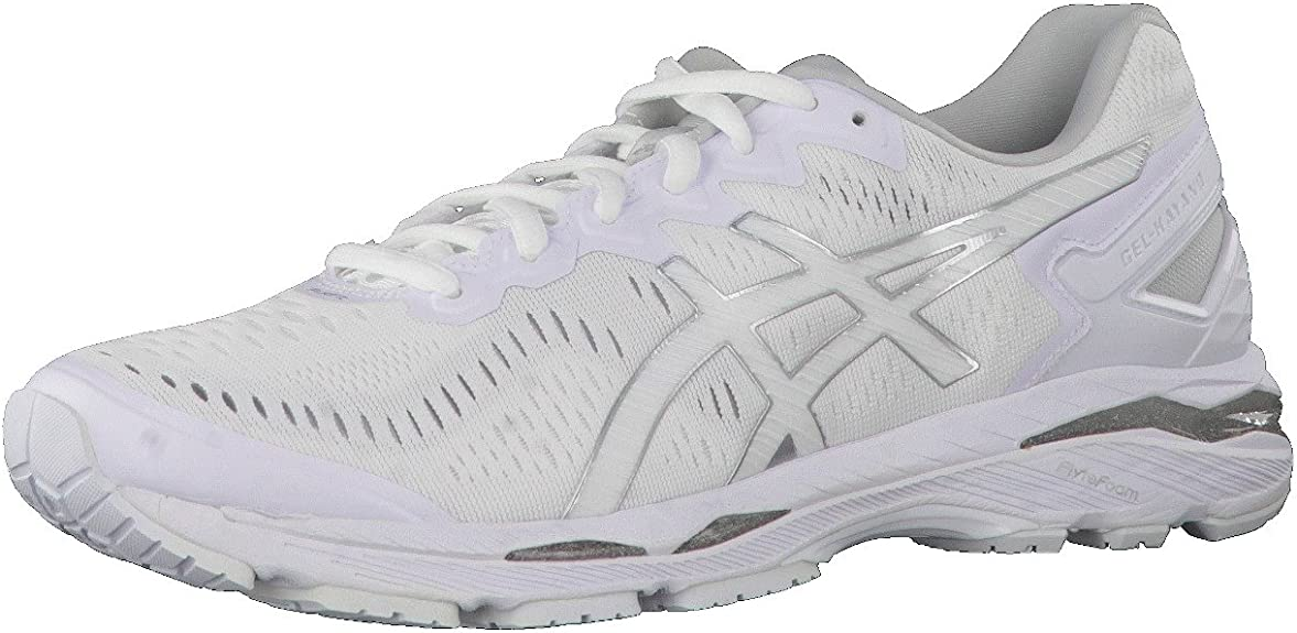 Asics Gel-Kayano 23, Zapatillas de Running para Hombre, Blanco (White/Snow/Silver), 50.5 EU: Amazon.es: Zapatos y complementos