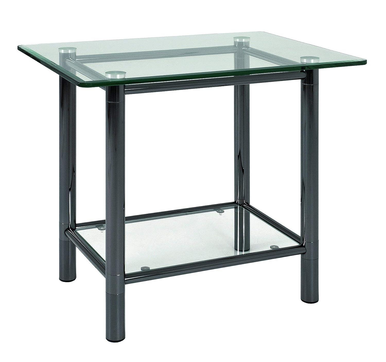 Haku-Möbel 42067 Beistelltisch 58 x 43 x 53 cm, schwarz nickel