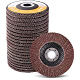4.5 Inch Flap Discs by LotFancy - 20PCS 40 60 80 120 Grit Assorted Sanding Grinding Wheels, Aluminum Oxide Abrasives…