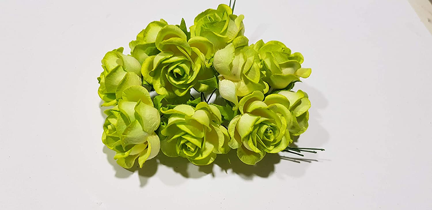 iCraft Rose Mulberry Flowers (Parrot Green Color - Pack of 50 ...