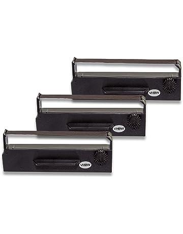 vhbw 3X Cinta de Tinta mecanográfica de Nailon para Impresora matricial/Agujas Anker ADS 14