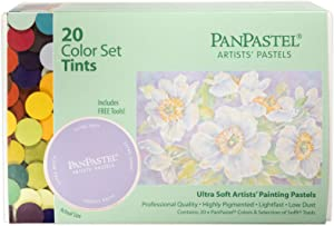 PanPastel 30204 Ultra Soft Artist Pastel 20 Color Set - Tints w/Sofft Tools