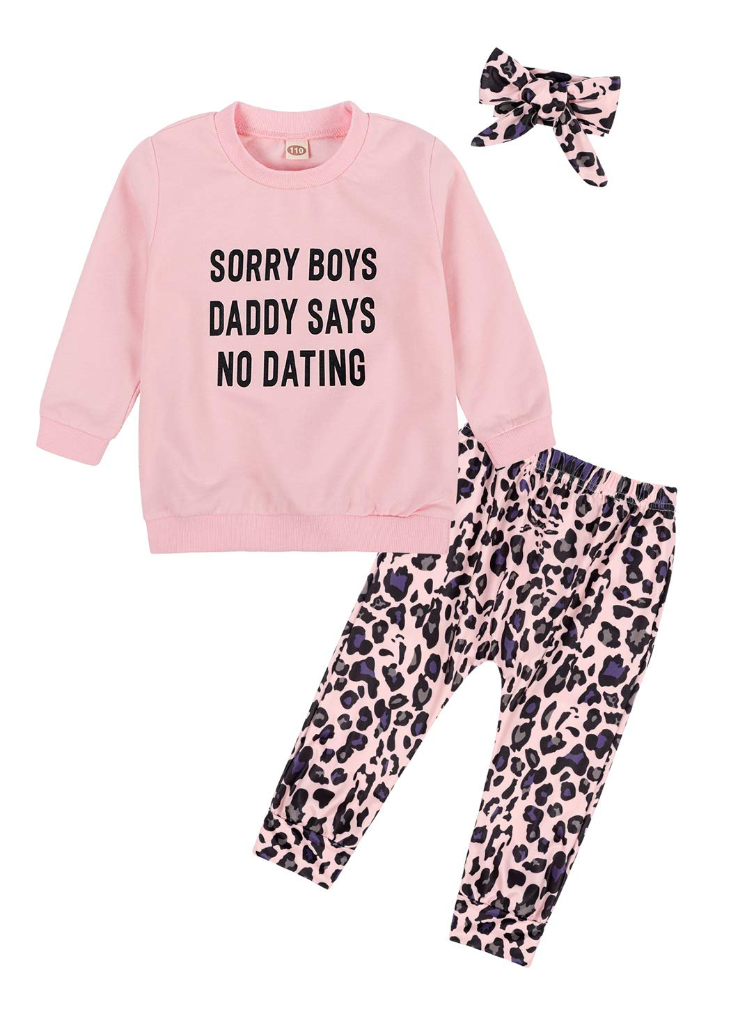 Edjude Baby Boys 2 Pieces Winter Fall Clothes Toddler Kids Long Sleeves Sweatshirt T-Shirt Pants Outfits Set