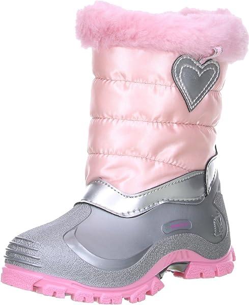big sale 1660b 14f0a Kinder Mädchen Winterstiefel Snowboots Herz rosa