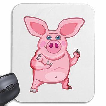 "Mousepad alfombrilla de ratón ""CERDO DIVERTIDO barbacoa Glücksschwein domésticos PIG BOAR COCHINILLOS"" para"