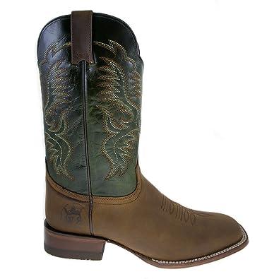 cb4001af739 Amazon.com   ReyWelt Men's Tan Square Toe Western Boot   Western