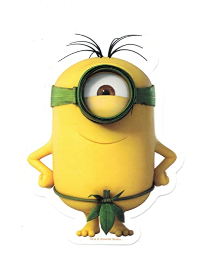 Amazon.com: Animewild Despicable Me Minions All Natural Minion Sticker: Automotive
