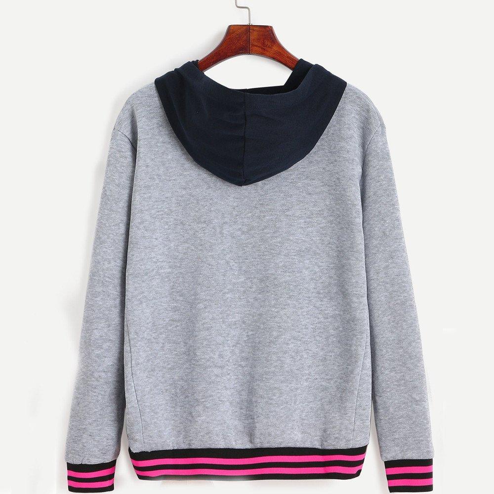 Kinghard Women Letters Printed Round Neck Hedging Sweatshirt Tops