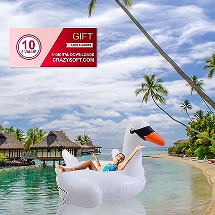 Amazon.com: Cisne Ocio gigante inflable flotador piscina ...