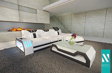 Exclusive Ledersofas sofa clermont mini ledersofa mit led beleuchtung nativo exclusive