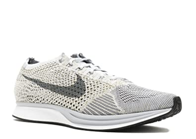 88253dc44 NIKE Flyknit Racer Pure Platinum - Pure Platinum/Cool Grey-White Trainer:  Amazon.co.uk: Shoes & Bags