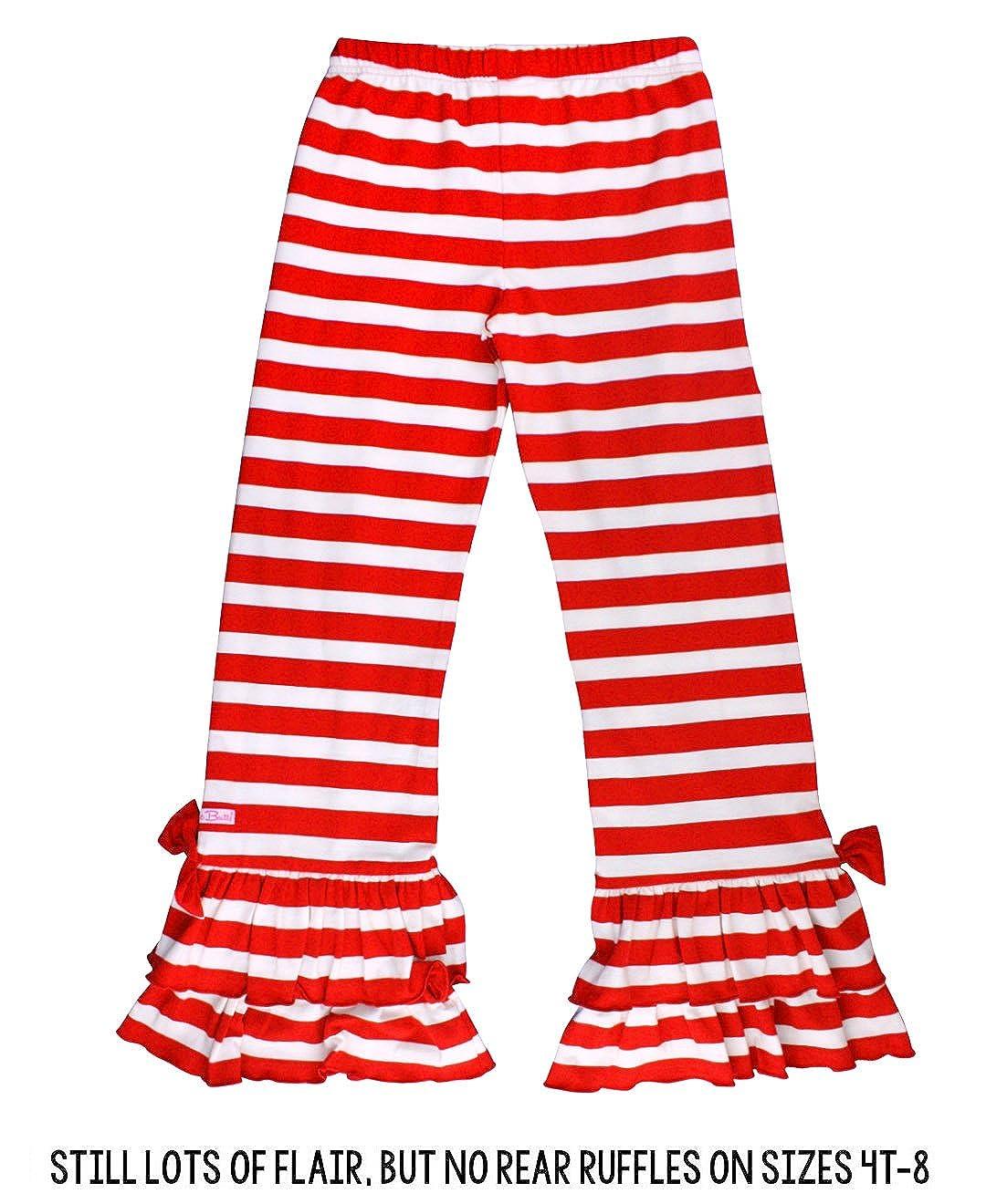 RuffleButts Little Girls Striped Stretchy Flare Pants w//Ruffles GPKYYXX-2R00-SC-TDLR