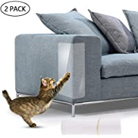 Cat Scratching Guard Tape, LEEGOAL 2 PCS Clear Heavy Duty Pet Couch Protectors - Keep Cats from Clawing Furniture, Chair, Sofa, Doors, Stairs
