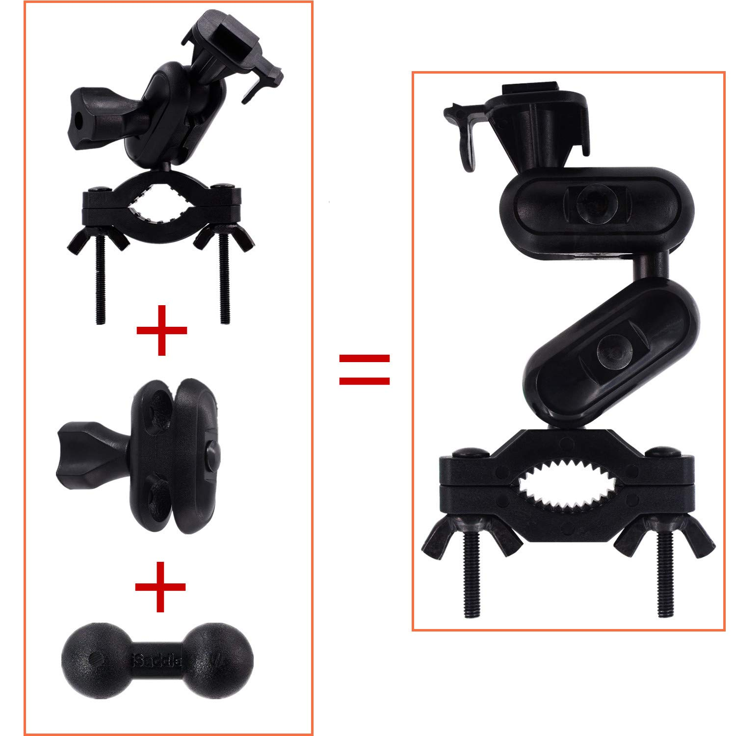 Windshield /& Dashboard Suction Cup Mount Holder//w Various Joints for Yi//Rexing//Falcon//Old Shark//VANTRUE//KDLINKS//WheelWitness//. iSaddle Dash Cam Suction Mount 99/% On-Dash Cameras Suitable CH-MK03
