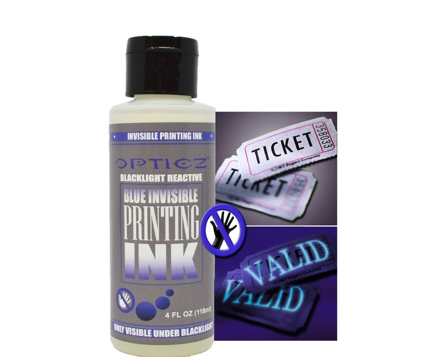 Opticz Industrial UV Blacklight Reactive Invisible Blue Ink Marking Variety Kit by Opticz (Image #2)