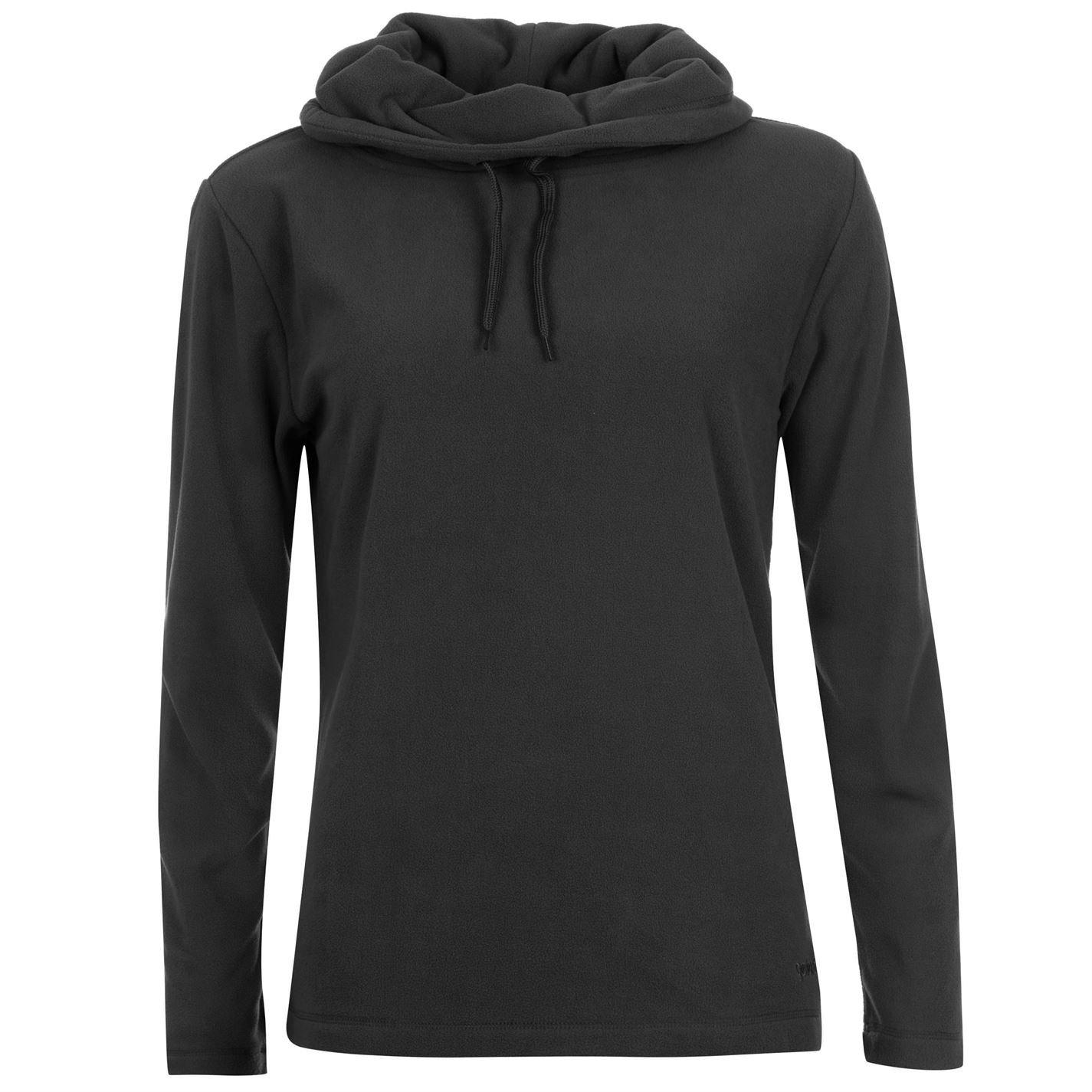 Gelert Womens Cowl Neck Fleece Casual Microfleece Top Ladies Jumper Sweatshirt Black 10 (S)