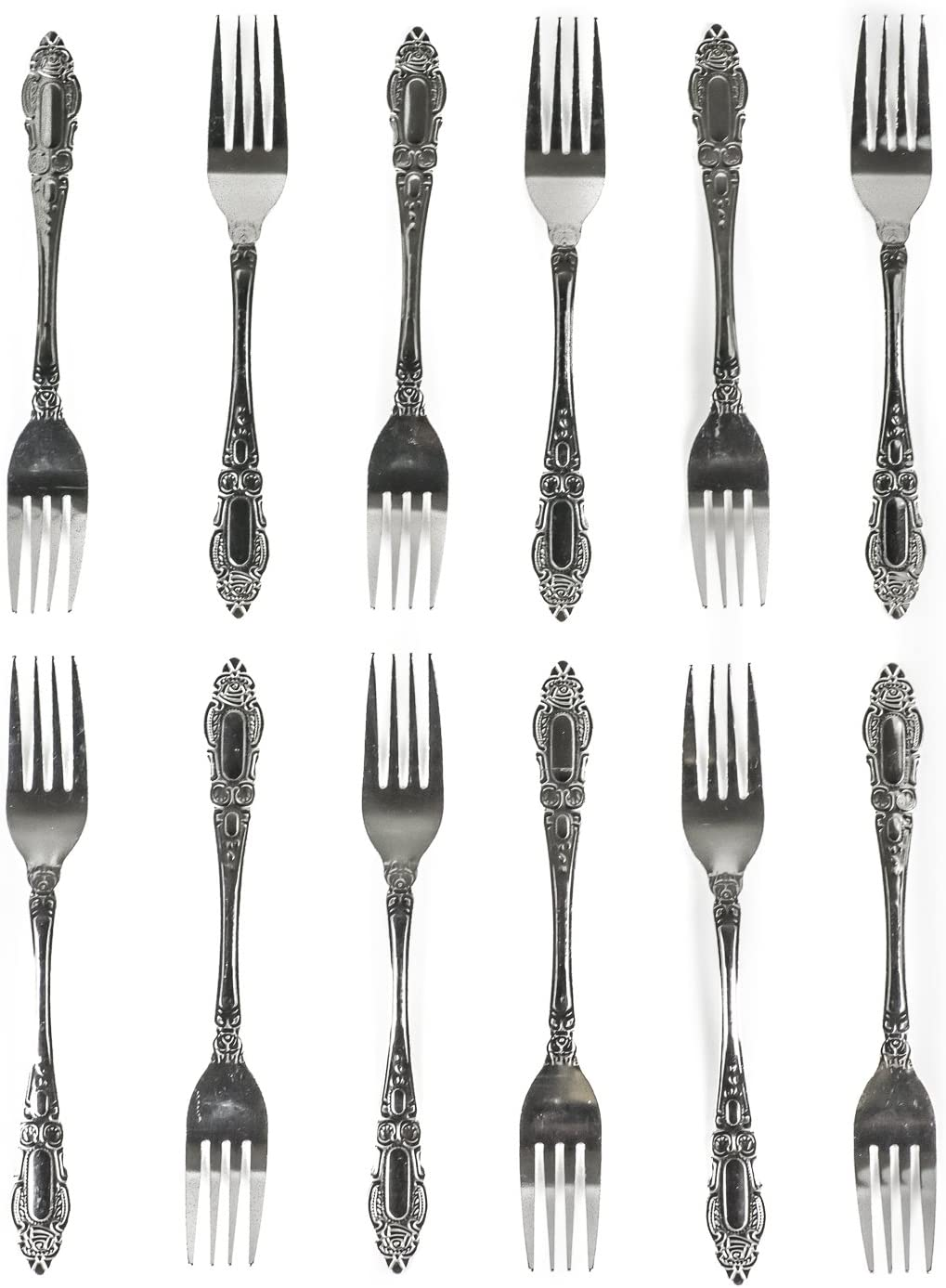DecorRack Dinner Forks, Stainless Steel Table Forks, Flatware (Set of 12)