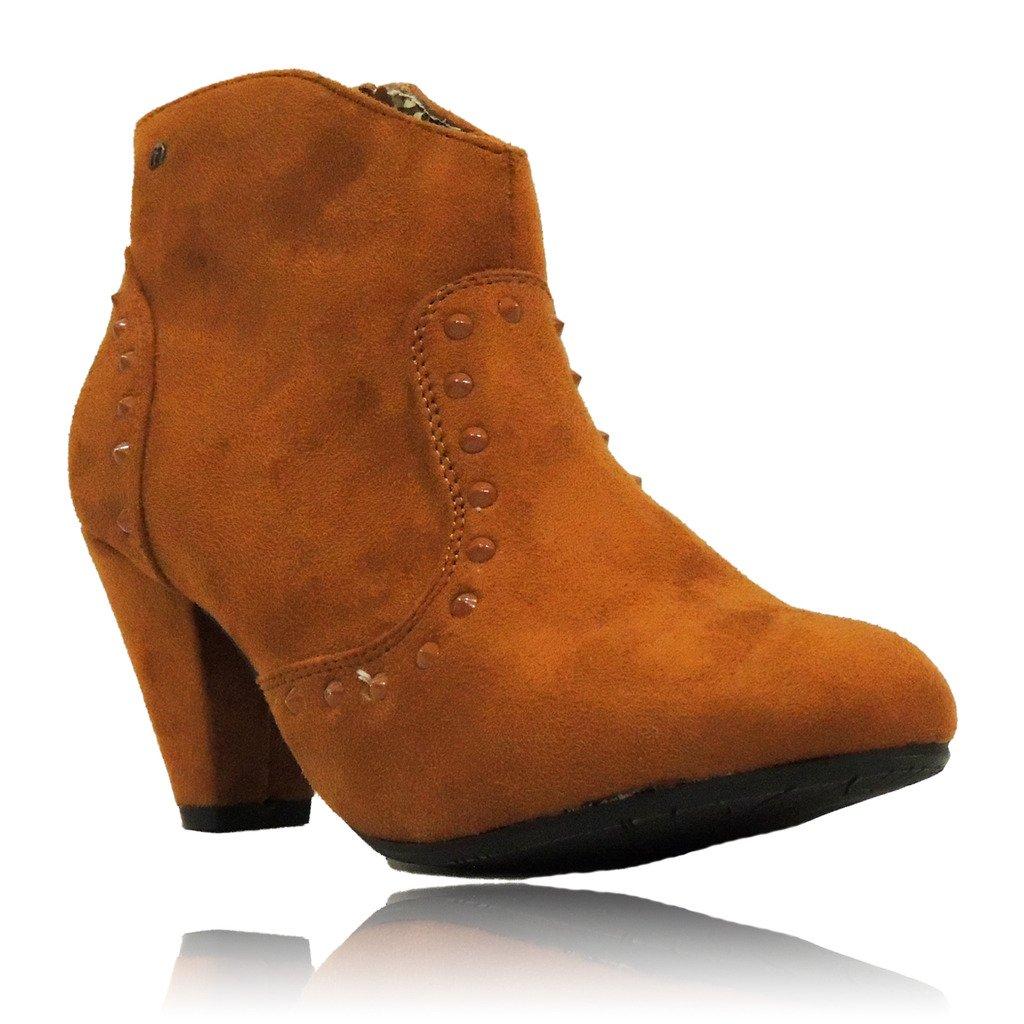 Mustang Botines Tacón Medio Cuero EU 36: Amazon.es: Zapatos y complementos
