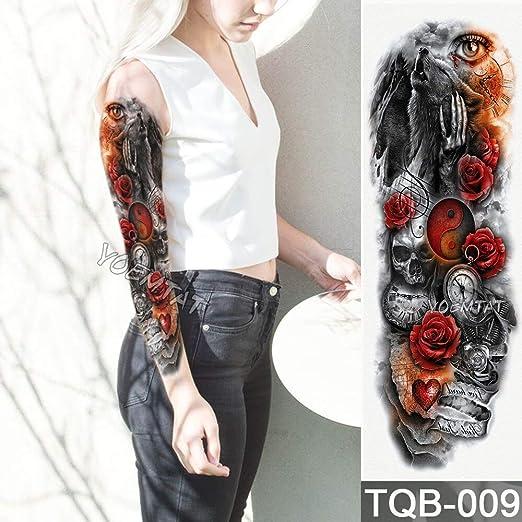 tzxdbh Nueva Etiqueta engomada Temporal del Tatuaje Yin y Yang ...
