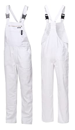 bdb082fed84c HighMax Latzhose Arbeitshose Malerhose 100% Baumwolle BW 280G Weiß  Berufskleidung Arbeitskleidung Maler Food  Amazon.de  Bekleidung
