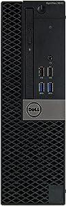 Dell Optiplex 3040-SFF, Core i3-6100 3.7GHz, 8GB RAM, 256GB Solid State Drive, DVDRW, Windows 10 Pro 64bit (Renewed)