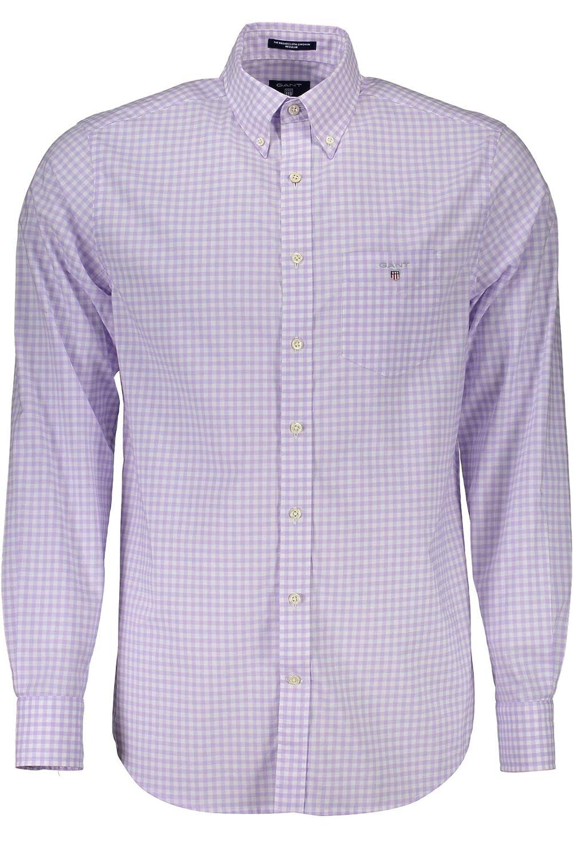 violet 536 M Gant The Broadcloth Gingham Reg BD Chemise Décontracté Homme