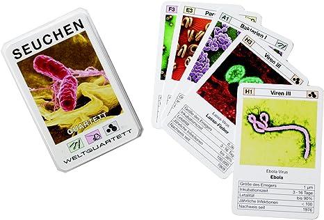 Enfermedades Cuarteto para enfermedades de SIDA Cuarteto juego de cartas: Amazon.es: Juguetes y juegos