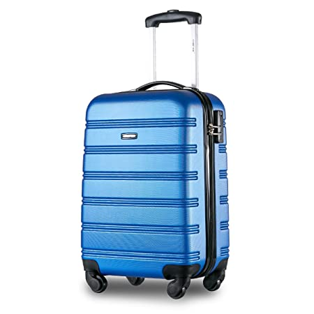 a77a7f709 Merax ® Super Lightweight ABS Hard Shell Travel Carry On Cabin Hand Luggage  Suitcase with 4