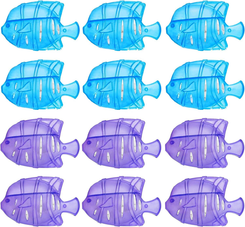 ZROPAW 가습기 탱크 청소기는 물고기 12PCS 보편적인 물고기 가습기 탱크 실버 이온 공기 필터 물고기와 호환 가장 가습기 필터 물고기 탱크 청소기 물 수영장 수영장
