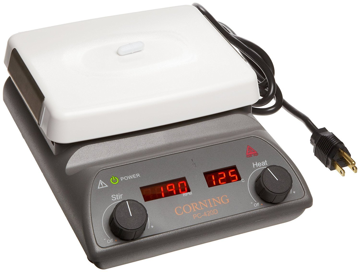 Corning 6795-420D PC-420D Stirring Hot Plate with Digital Display and 5'' x 7'' Pyroceram Top, 5 to 550 Degree C, 120V/60Hz