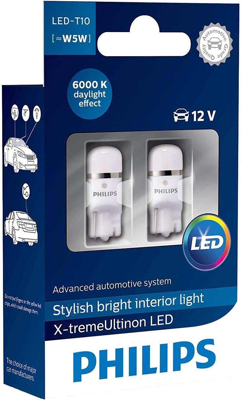 Philips 127996000KX2 bombilla para coche - bombilla para coches (0,8W, T10, LED)