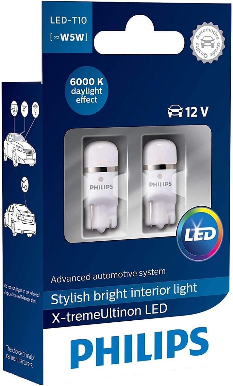 Philips 127996000kx2 X Tremevision Led W5w T10 6000k Ceralight Set Of 2 Interior Convenience Bulbs Amazon Canada