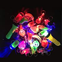 24 Pieces LED Keyring Party Bag Fillers Lighting Toy for Pinata Small Return Gifts for Kids Party Supplies