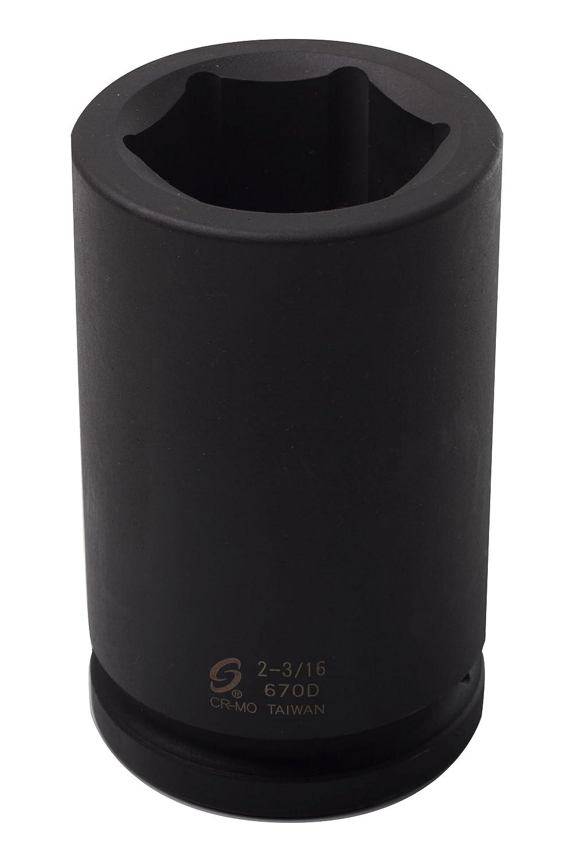 Sunex 670D 1-1//2-Inch Drive by 2-3//16-Inch Deep Impact Socket Sunex International