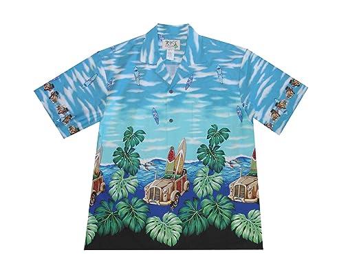 c959cd93 KYS Monstera Leaf Woody Men's Vintage Car Aloha Shirt at Amazon Men's  Clothing store: