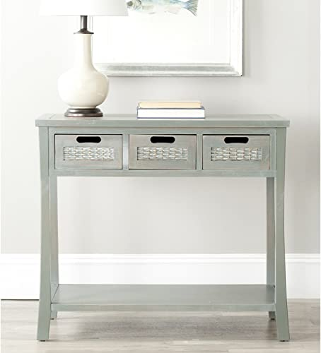 Safavieh American Homes Collection Autumn French Grey 3-Drawer Console Table