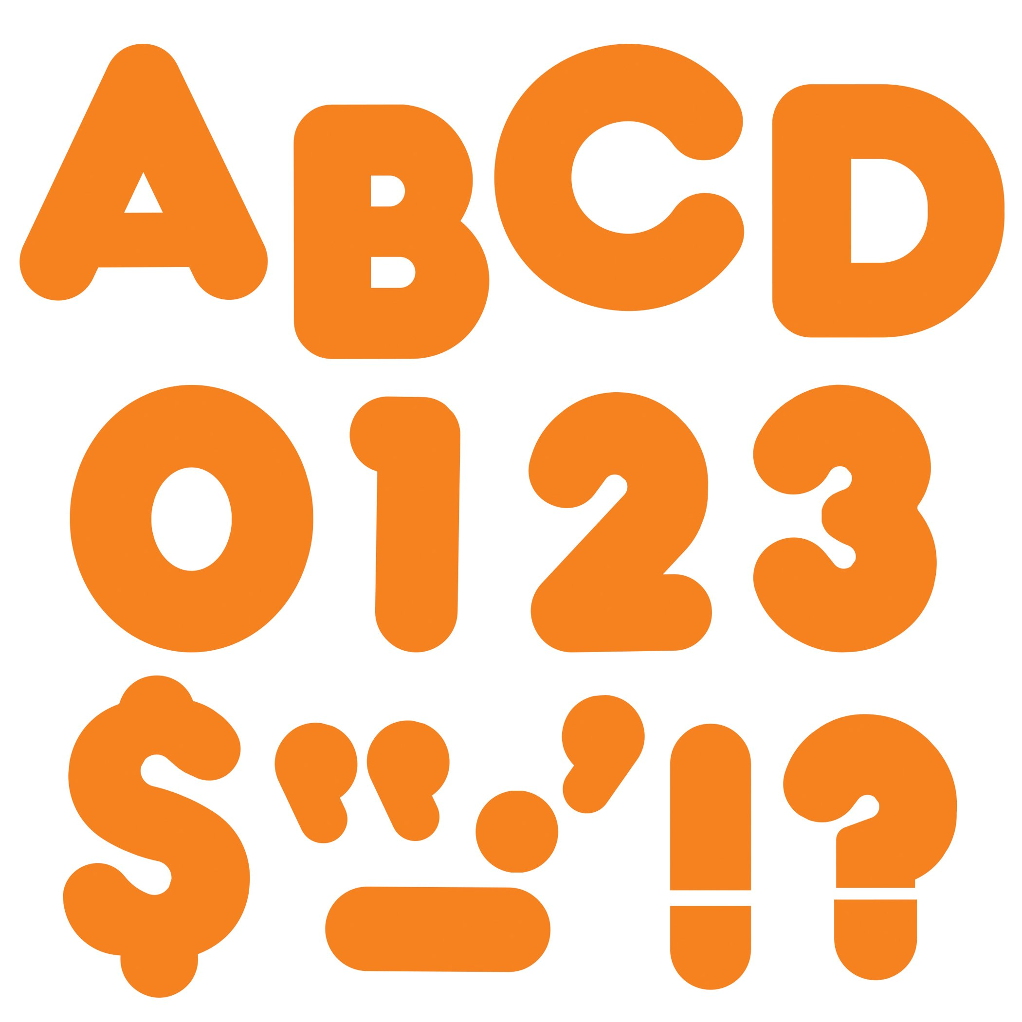 TREND enterprises, Inc. T-475BN Orange 4'' Casual Uppercase Ready Letters, 6 Packs by TREND Enterprises